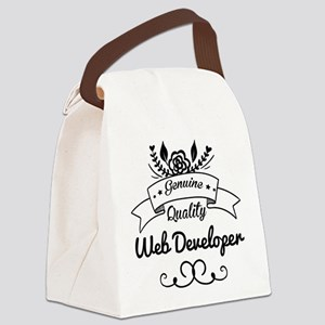 Genuine Quality Web Developer Canvas Lunch Bag